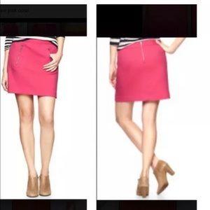Gap Pink Coral  Zip Pocket Twill Weave Skirt